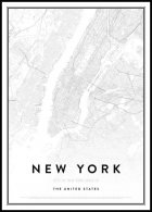 Map of New York Juliste
