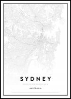 Map of Sydney Juliste