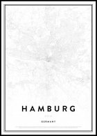 Map of Hamburg Juliste