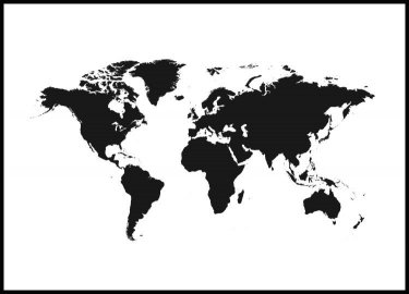 World Map Juliste