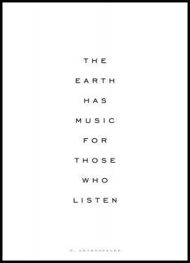 The Earth Has Music Juliste