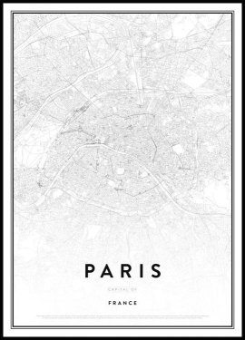 Map of Paris Juliste