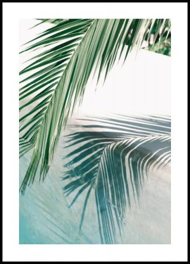 Poolside Palm Leaf Juliste