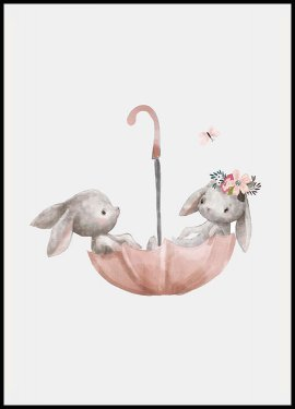 Bunnies Umbrella Juliste
