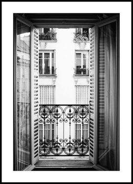 Paris Window Juliste
