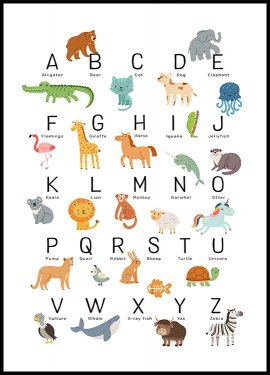 Animal Alphabet Juliste