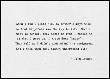 John Lennon Happy Juliste