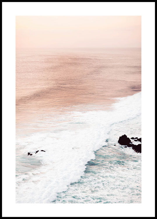 Pastel Waves Juliste