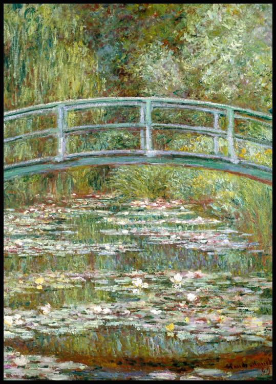 Claude Monet Bridge Over a Pond Juliste