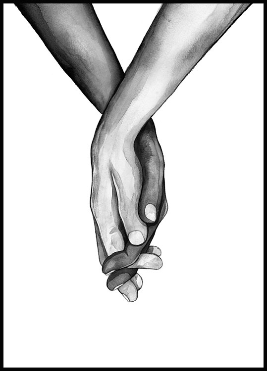 Holding Hands Juliste