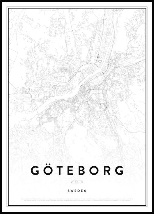 Map Of Gothenburg Goteborgin Kartta Juliste Posterstore Fi