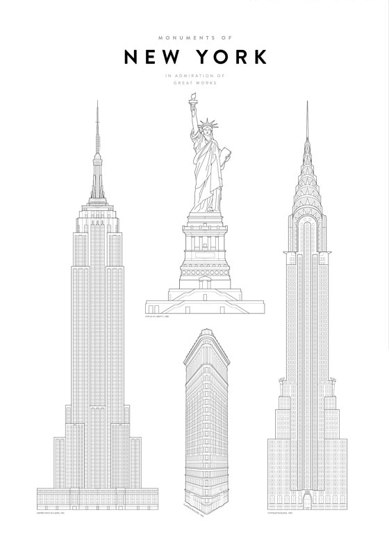 Monuments of New York Juliste