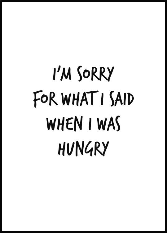 I was Hungry Juliste